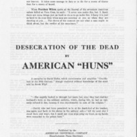 """Desecration of the Dead by American 'Huns'"""