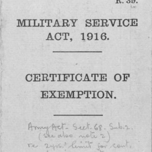 Military Service Act of 1916