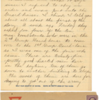 Letter April 21, 1918 from Lawrence Williamson to his parents