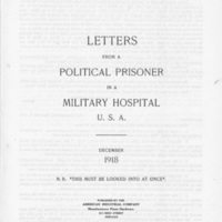 """""""Letters from a Political Prisoner in a Military Hospital U.S.A."""""""