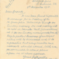 "Letter from V. Hoggids [?], H. Russell [?], and Arthur Creech Jones to ""Comrade"" [Sydney Turner?]"
