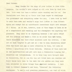 Letter June 27, 1918 from Evan Thomas