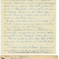 Letter March 17, 1918 from Lawrence Williamson to Mary Williamson