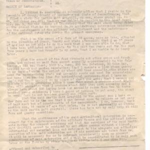 District Board Affadavit re: William Kraybill, September 1917