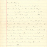 Letter from Harry Ward to Alexander Wilson
