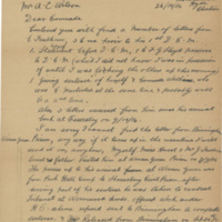 Letter from E. Ridgeway to Alexander Wilson