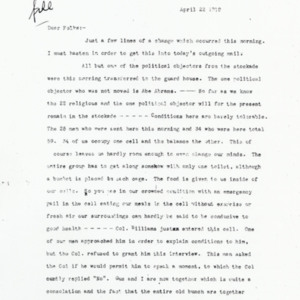 Letter April 19, 1919 from Jacob Wortsman (extracts)