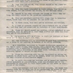 Form Letter from Aaaron Loucks, September 1, 1917