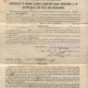 Local Board certificate