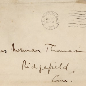 Letter July 23, 1918 from Norman Thomas to Violet Thomas