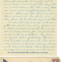 Letter March 6, 1918  from Lawrence Williamson to his parents