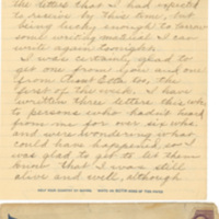Letter May 19, 1918 from Lawrence Williamson to his parents