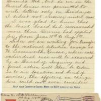 Letter June 16, 1918 from Lawrence Williamson to his parents