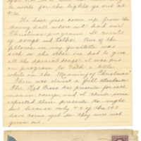 Letter December 25, 1917 from Lawrence Williamson to his parents