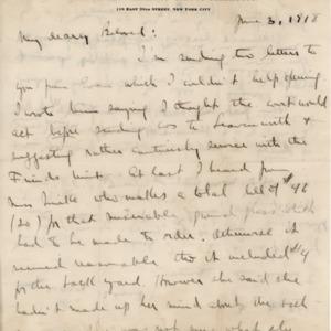 LetterJune3rd1918ToBelovedFromNormanPage01.tif