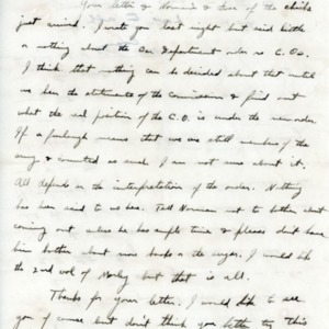 Letter June 4, 1918 from Evan Thomas to Violet Thomas