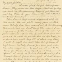 Letter July 21, 1918 from Lawrence Williamson to his parents