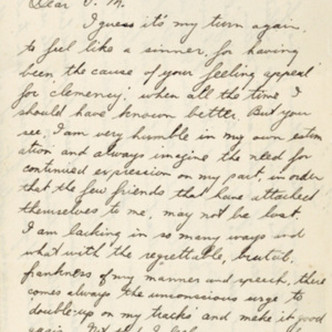 Letter November 1, 1919 from Bruno Grunzig to Frances Witherspoon