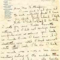 Letter 1918 from Joy Young to Frances Witherspoon