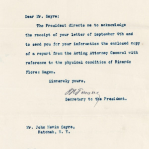 LetterFromWhiteHouseToMrSayreSerA_Box18Sept22nd1920.jpg