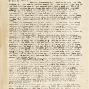 Letter November 14, 1918 from [Clark Getts] to Mrs. Anna M. Davis