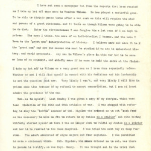 Letter October 13, 1918 from Evan Thomas to Mother