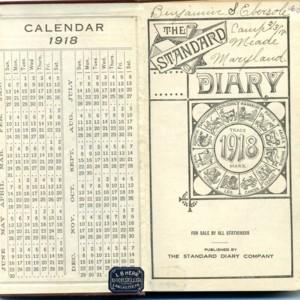 Diary of Benjamin Ebersole, 1918