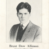 """Pamphlet """"Brent Dow Allinson: Conscientious Objector to War"""""""