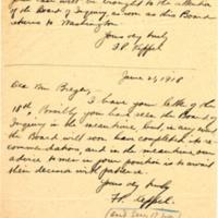 Letter/s June 1918 from Frederick Keppel to [Benjamin] Breger