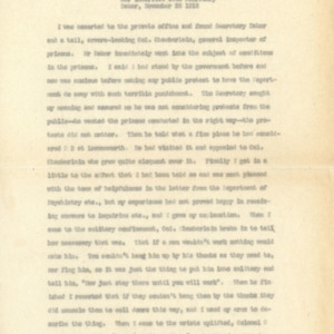 Extracts of letters November 11, 1918 from Mrs. Thomas