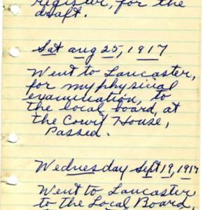 Diary of Benjamin Ebersole, 1917