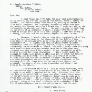 Letter November 18, 1918 from Paul Brown