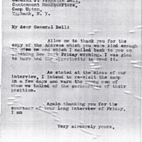 Letter May 13, 1918 from Frances Witherspoon to General Franklin Bell