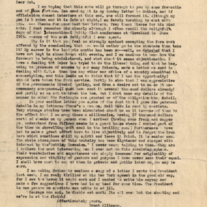 Letter October 6, 1918 from Brent Dow Allinson to Robert Dunn
