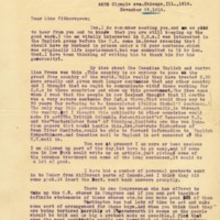 Letter November 22, 1918 from Laura Lunde to Frances Witherspoon