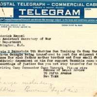 Telegram to Frederick Keppel