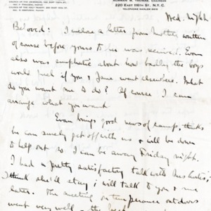 Letter Undated From Norman Thomas to Beloved [Violet Thomas]