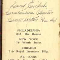 Diary of David Eichel, 1917