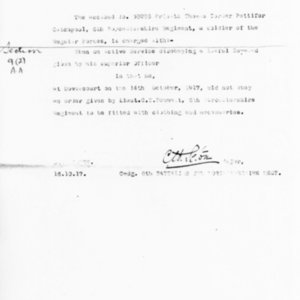 Charge Sheet, October 14, 1917