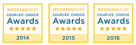 WeddingWire award badges