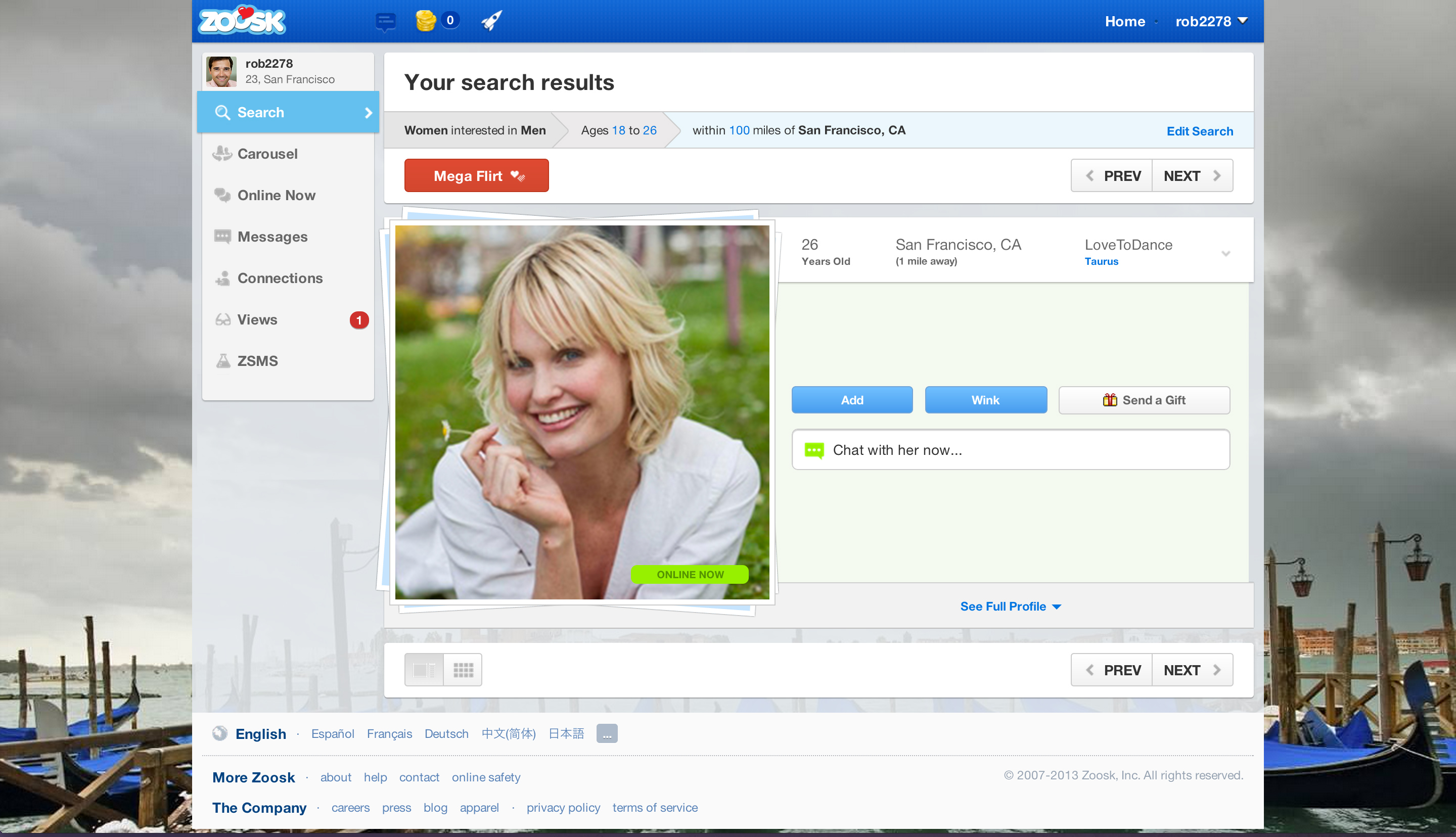 free online dating sites zoosk
