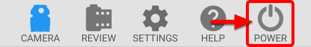 Select the Power Icon