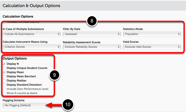 Step 5: Set Calculation & Output Options