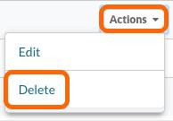 Actions > Delete Expiration