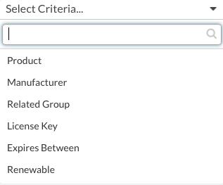 Select Criteria
