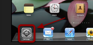 """Find your """"Settings"""" icon and tap it."""