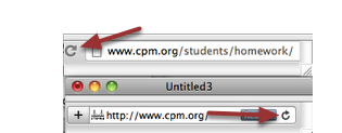1. To refresh your browser window, click on the backwards arrow usually found at the right or left of your URL.
