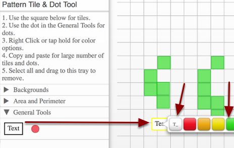 Textboxes and Dots