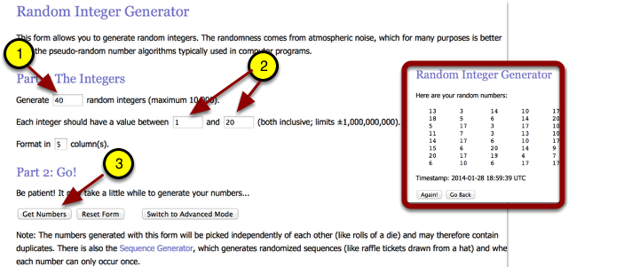 For problem 5-34, add information in steps 1 & 2.  Then click: Get Numbers