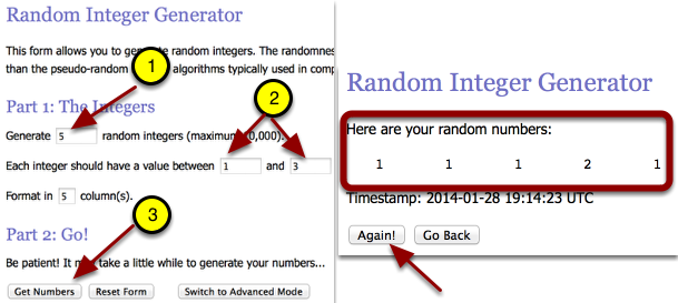 For problem 5-35, add information in steps 1 & 2.  Then click: Get Numbers.